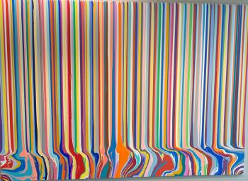 Puddlepainting Chromascopic 2, art for sale online by Ian Davenport
