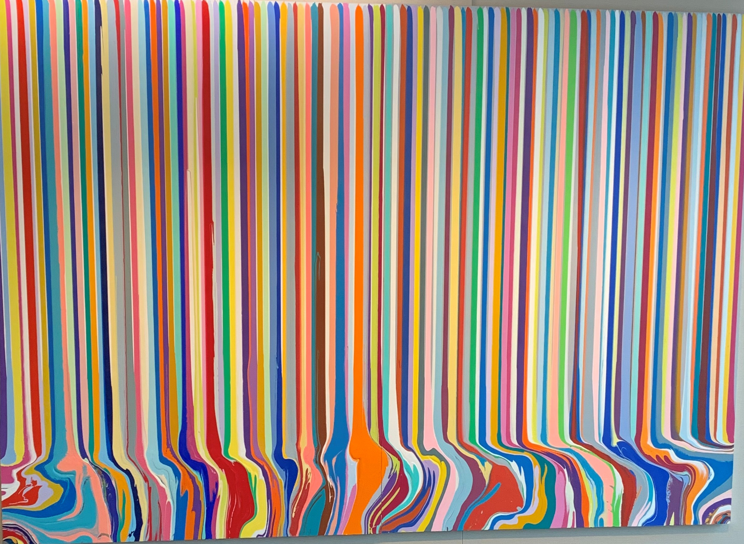 Puddlepainting Chromascopic 2 artwork by Ian Davenport - art listed for sale on Artplode