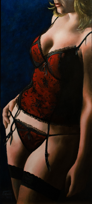 Mysterious Girl artwork by Edwin IJpeij - art listed for sale on Artplode