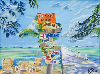 Rum Point Cayman Islands, art for sale online by Livia Constantinescu