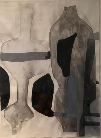 A Shape that Stands Up and Listens No 33, art for sale online by Amy Sillman