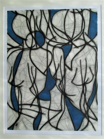 Blue Spaces No 9, art for sale online by Kevin Jones