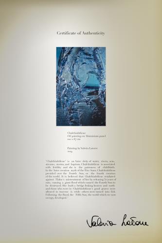 Chalchiuhtlicue artwork by Valeria Latorre - art listed for sale on Artplode