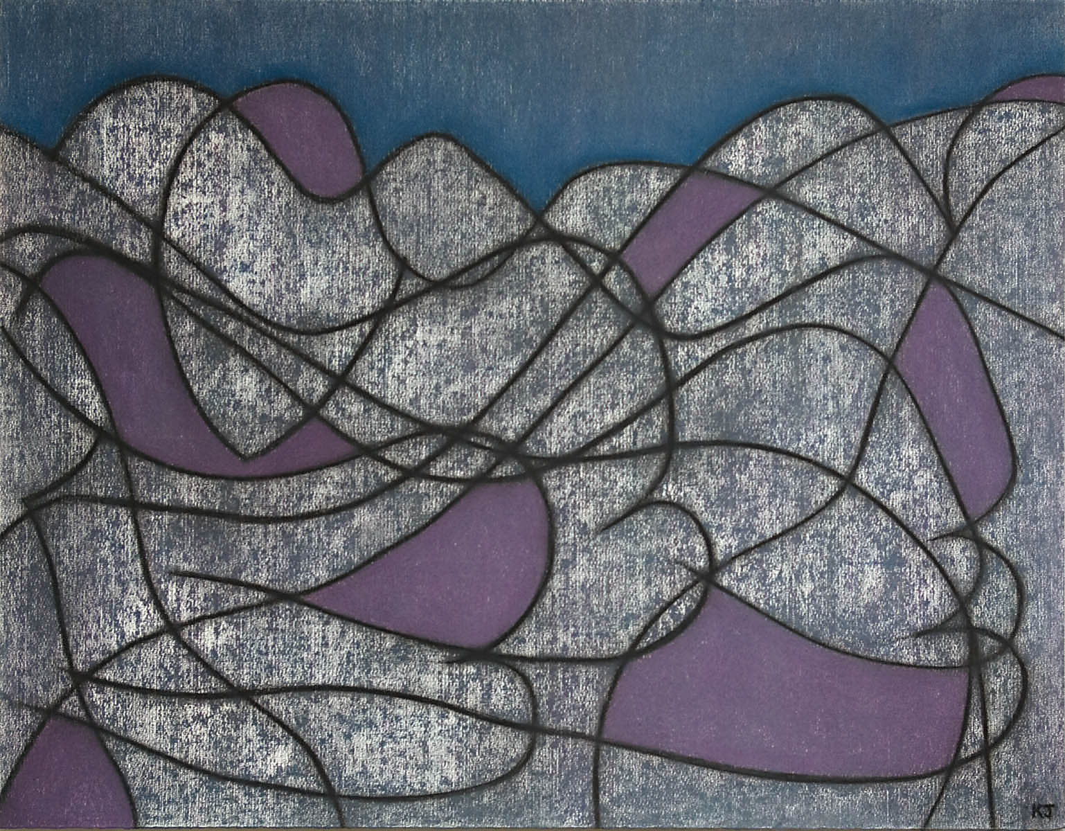 Composition On Grey No 2 artwork by Kevin Jones - art listed for sale on Artplode
