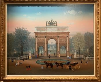 Attelage A Quatre Aux Tuilleries, art for sale online by Michel Delacroix