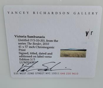 Untitled VS 10 30 The Border Series artwork by Victoria Sambunaris