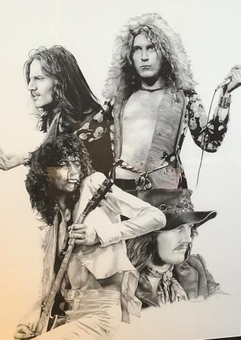 Led Zeppelin let the led out , art for sale online by Todd Claydon