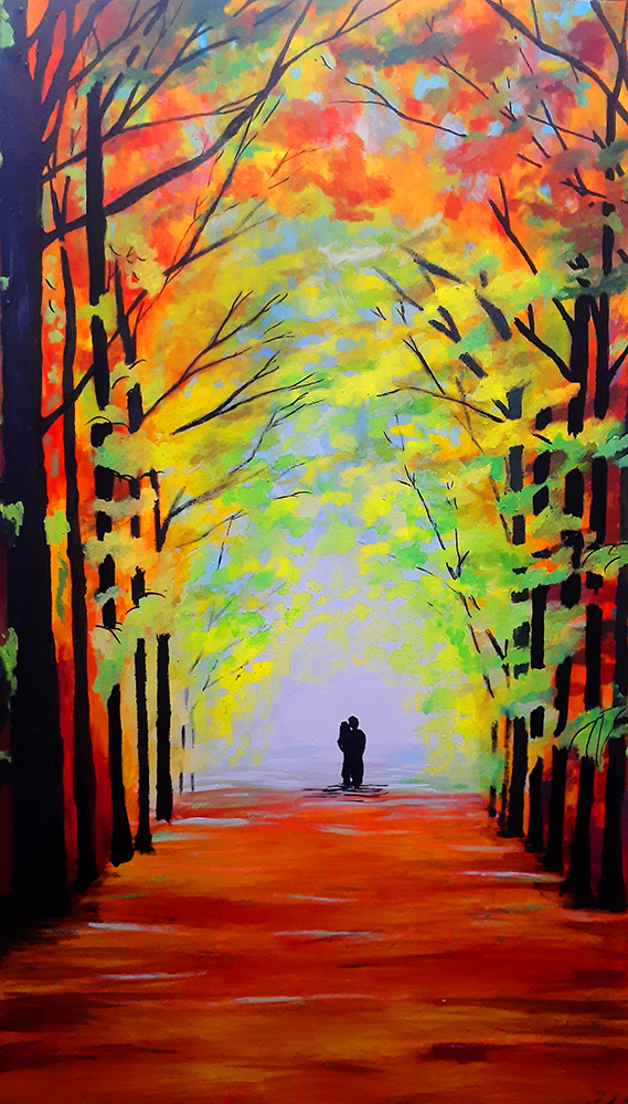 A long journey artwork by Saul Cieza - art listed for sale on Artplode