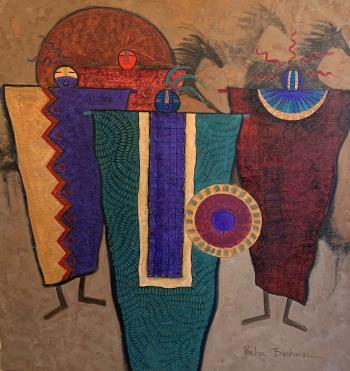 Ancient Peacekeepers, art for sale online by Penelope Bushman