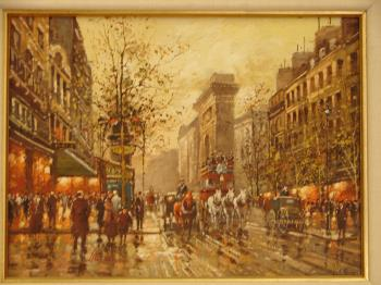 Paris Street Scene, art for sale online by Claude Boyer