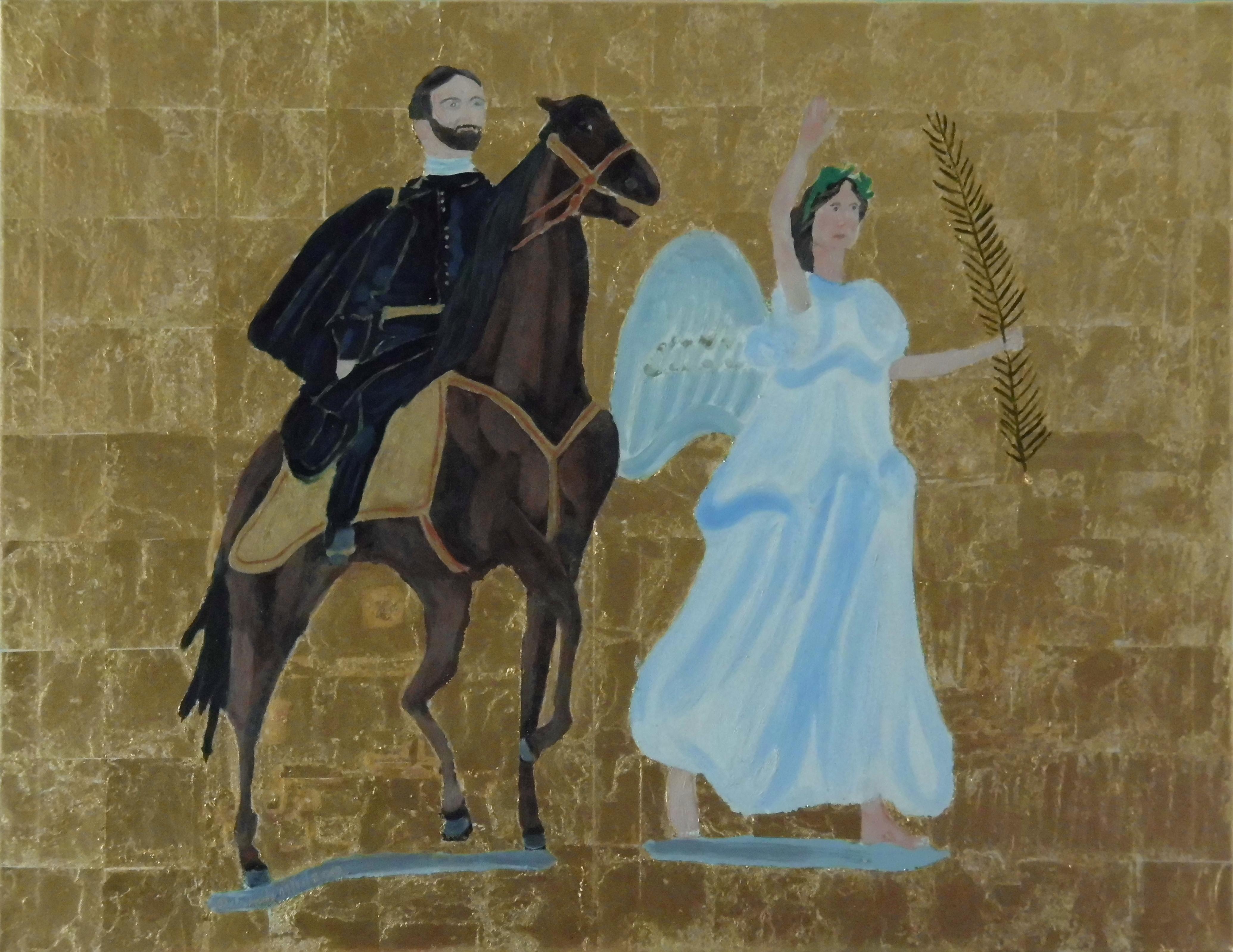 General Sherman led by Goddess Nike artwork by Teresa Deborah Ryle - art listed for sale on Artplode
