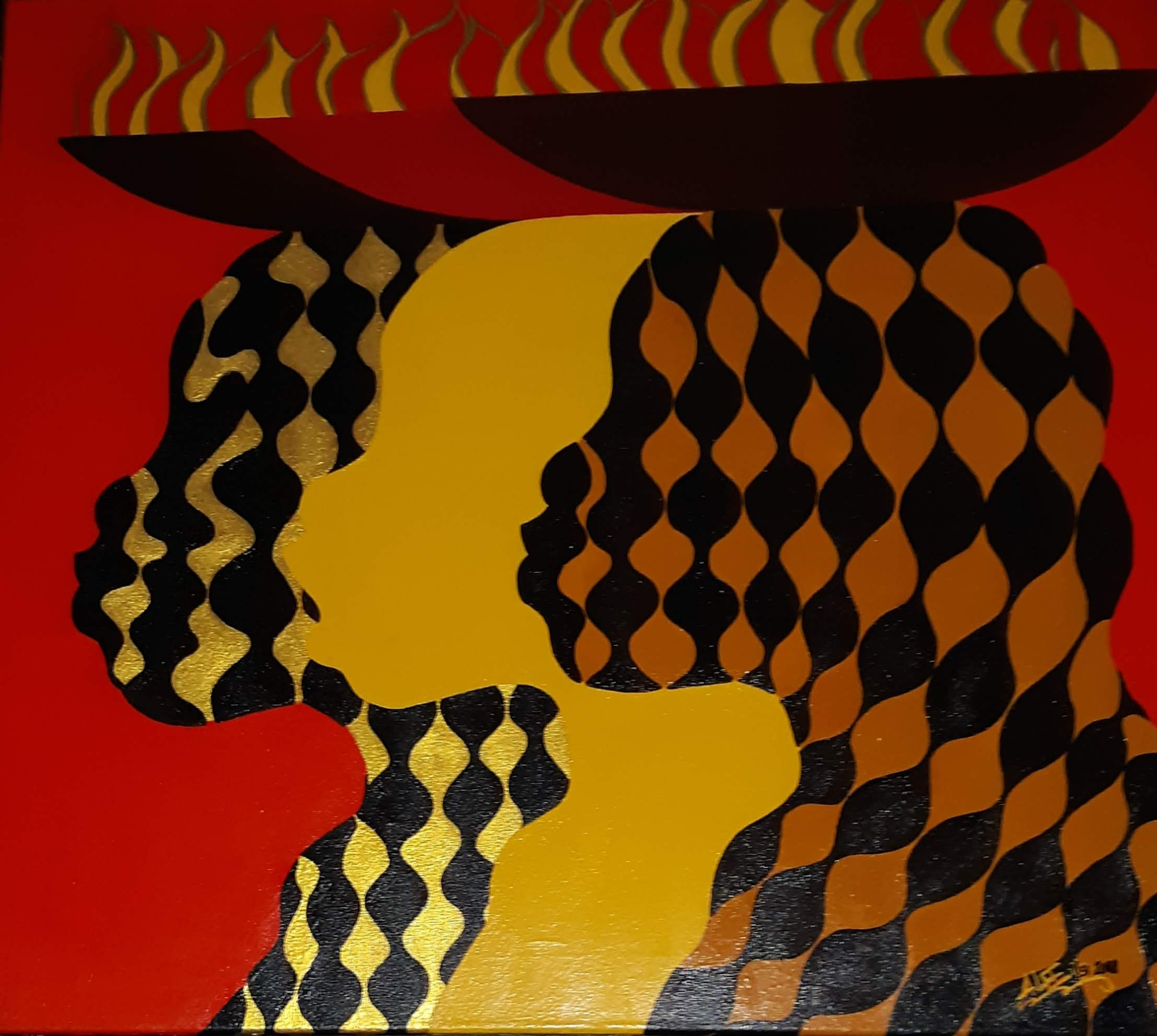 Me Myself and I artwork by Alee - art listed for sale on Artplode