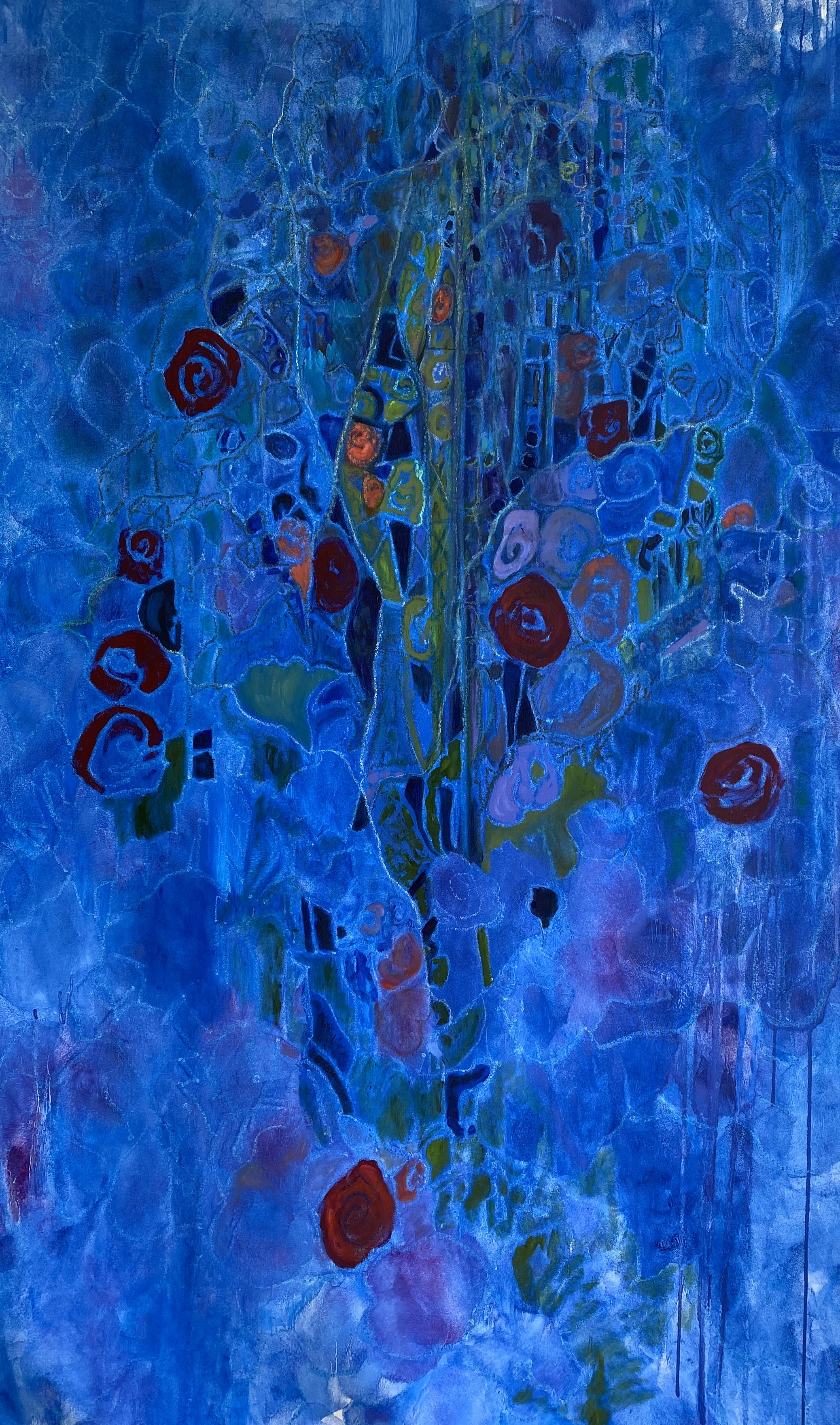 Gaslight Series No 4 Blue artwork by Laura Cohen - art listed for sale on Artplode