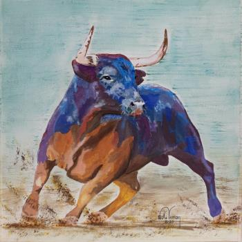 Spanish Fighting Bull, art for sale online by Mike Vernon
