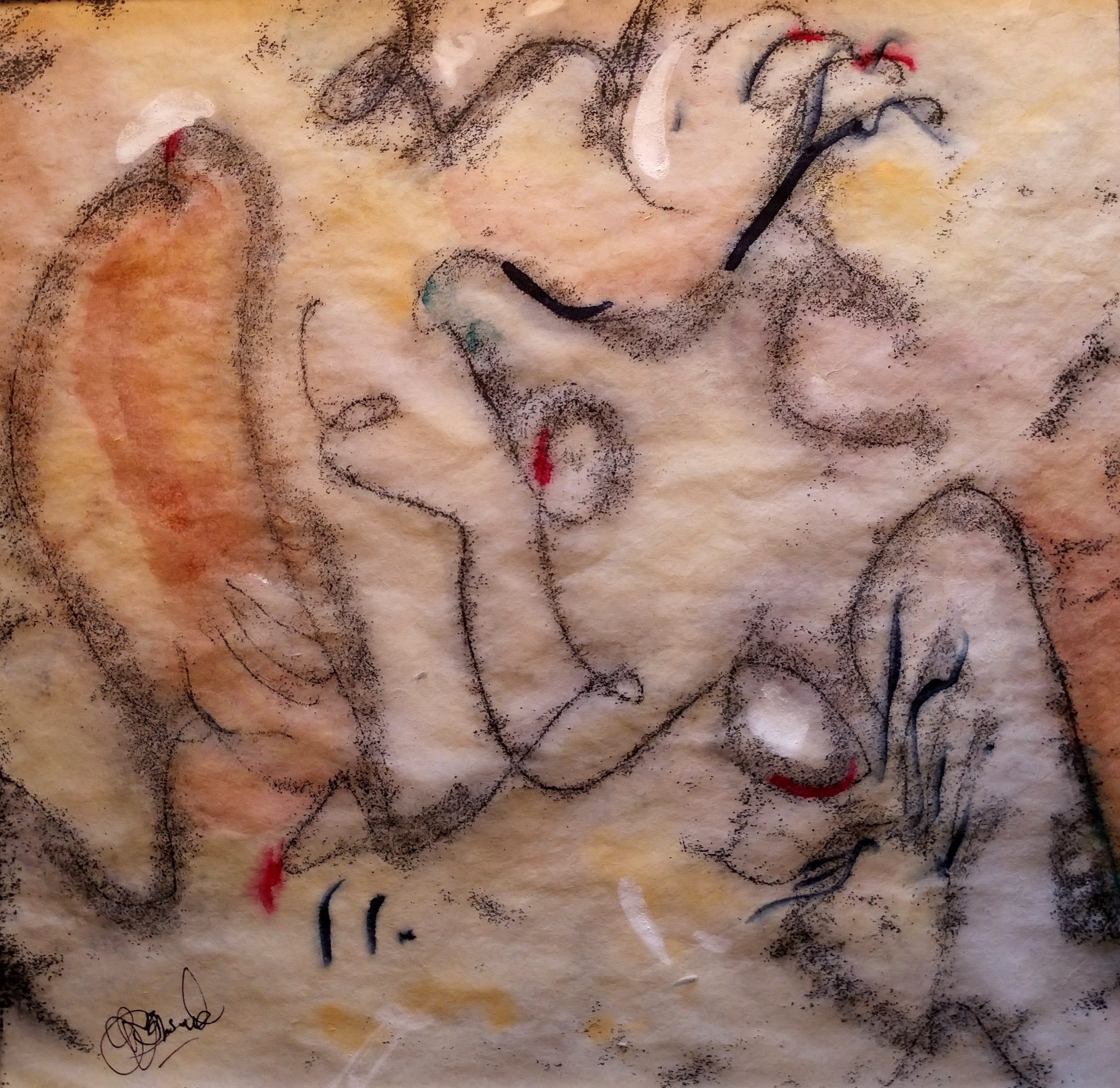 Earth Astract artwork by Roberta Ann Busard - art listed for sale on Artplode