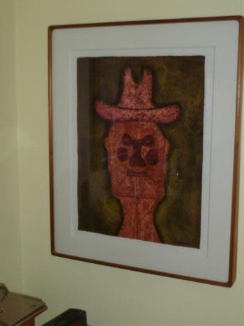 MAN IN RED HAT artwork by RUFINO TAMAYO
