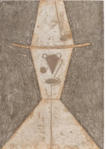 Cabeza con Sombrero  artwork by Rufino Tamayo - art listed for sale on Artplode