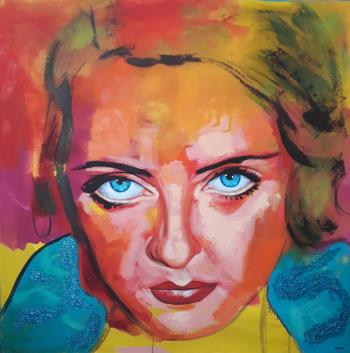 Bette Davis, art for sale online by Naydene Gonnella
