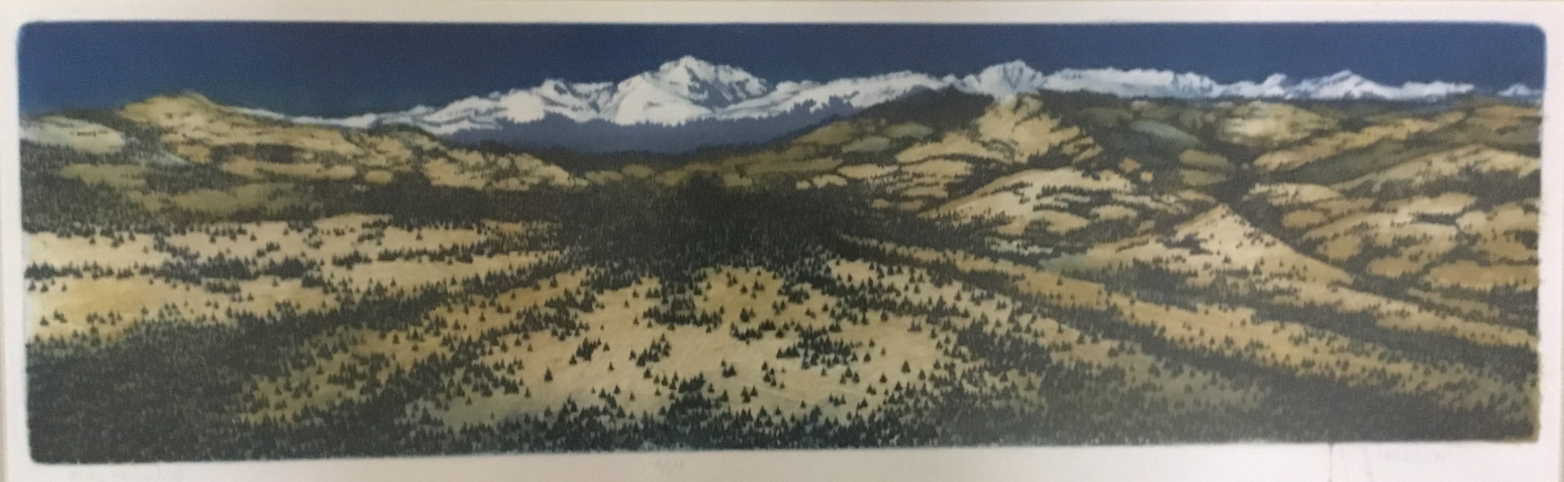 Rocky Mtn Landscape artwork by Tim Diffenderfer - art listed for sale on Artplode
