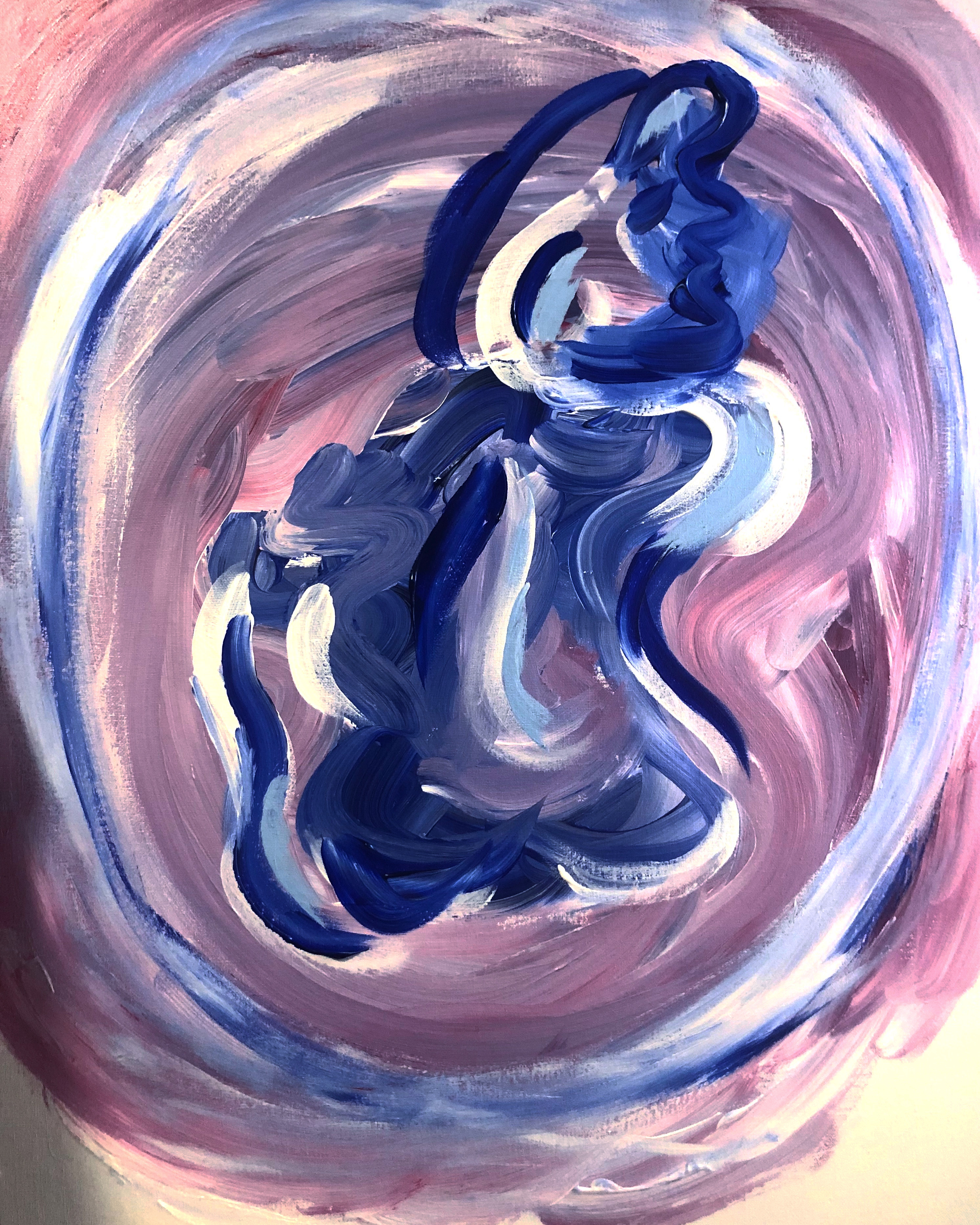 Woman in Blue artwork by Jazzy M - art listed for sale on Artplode