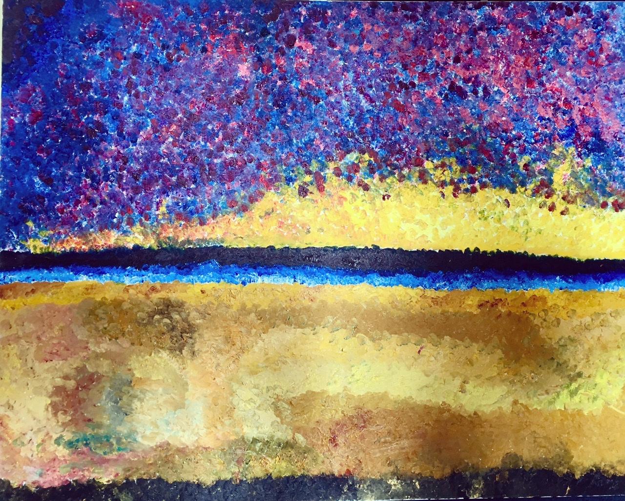 River Sunrise artwork by Freddo Doar - art listed for sale on Artplode
