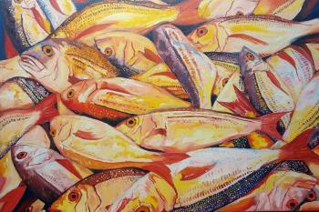 Bospherous Yellow Fish , art for sale online by Karl Rozemeyer