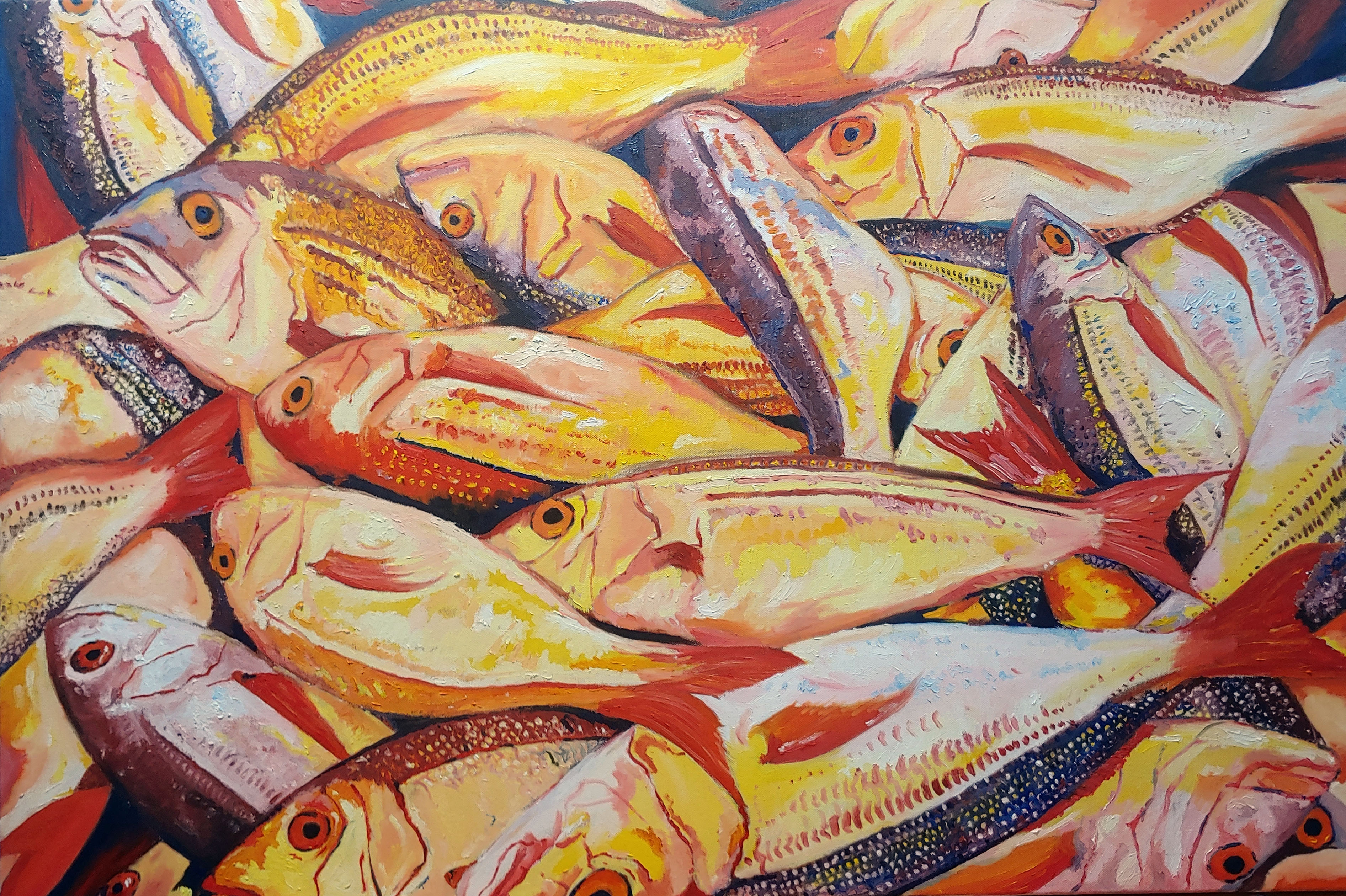 Bospherous Yellow Fish  artwork by Karl Rozemeyer - art listed for sale on Artplode