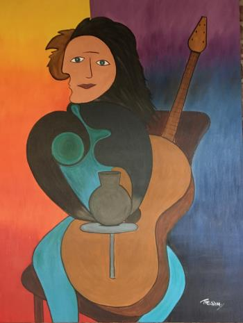 Carrie Potter Musician, art for sale online by Wilton A Treadway