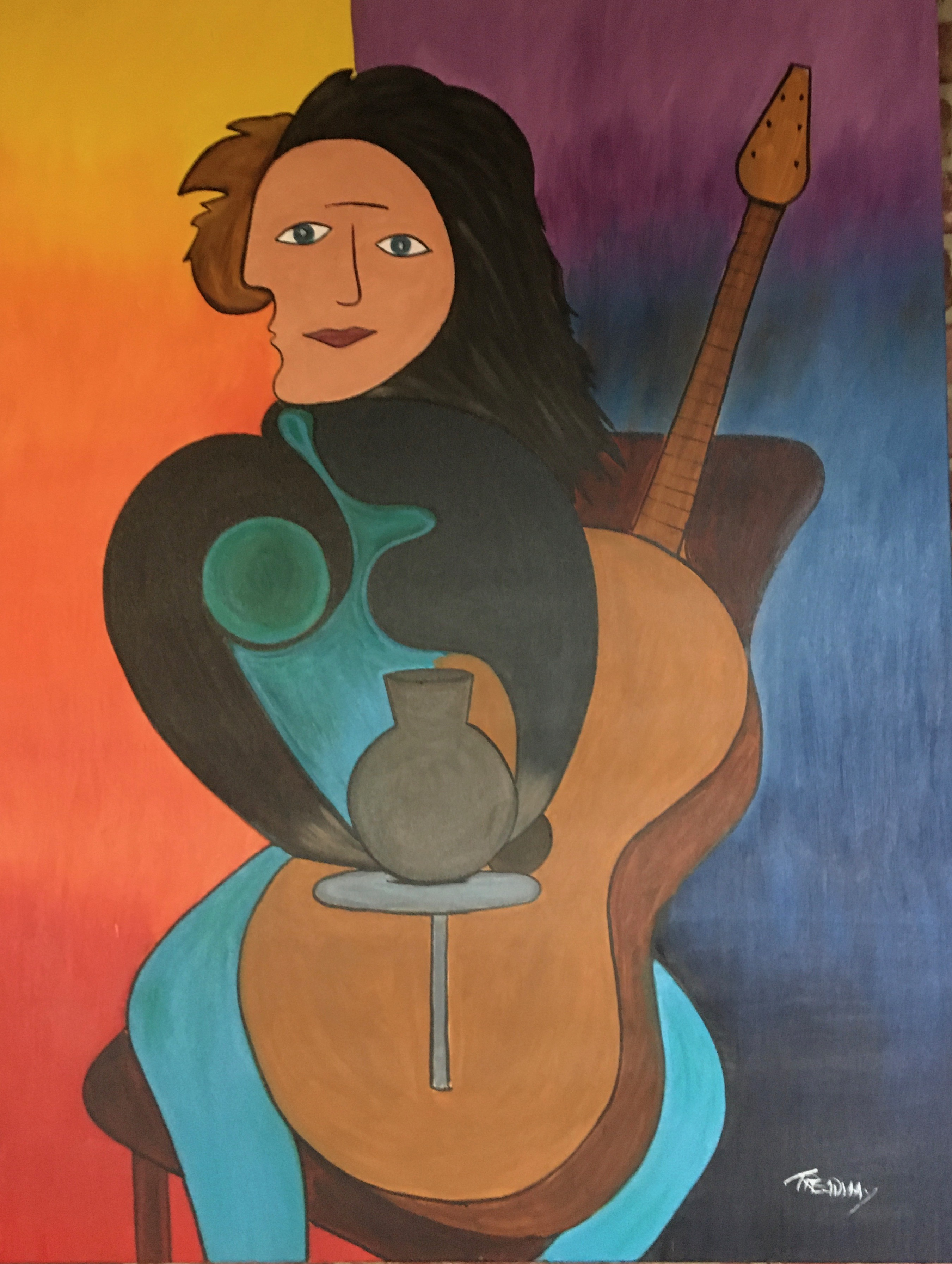 Carrie Potter Musician artwork by Wilton A Treadway - art listed for sale on Artplode