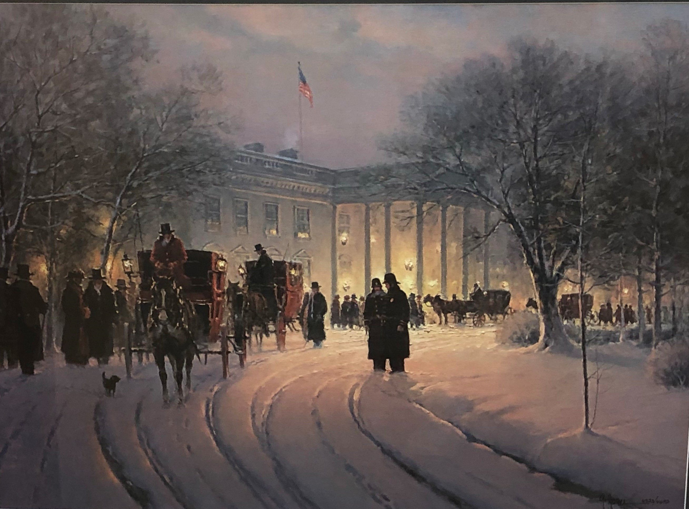 An Evening With The President artwork by G Harvey - art listed for sale on Artplode