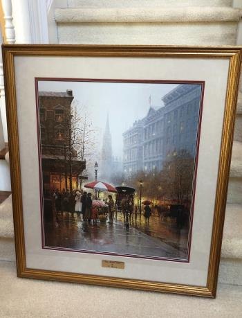 The Flower Cart, art for sale online by G Harvey