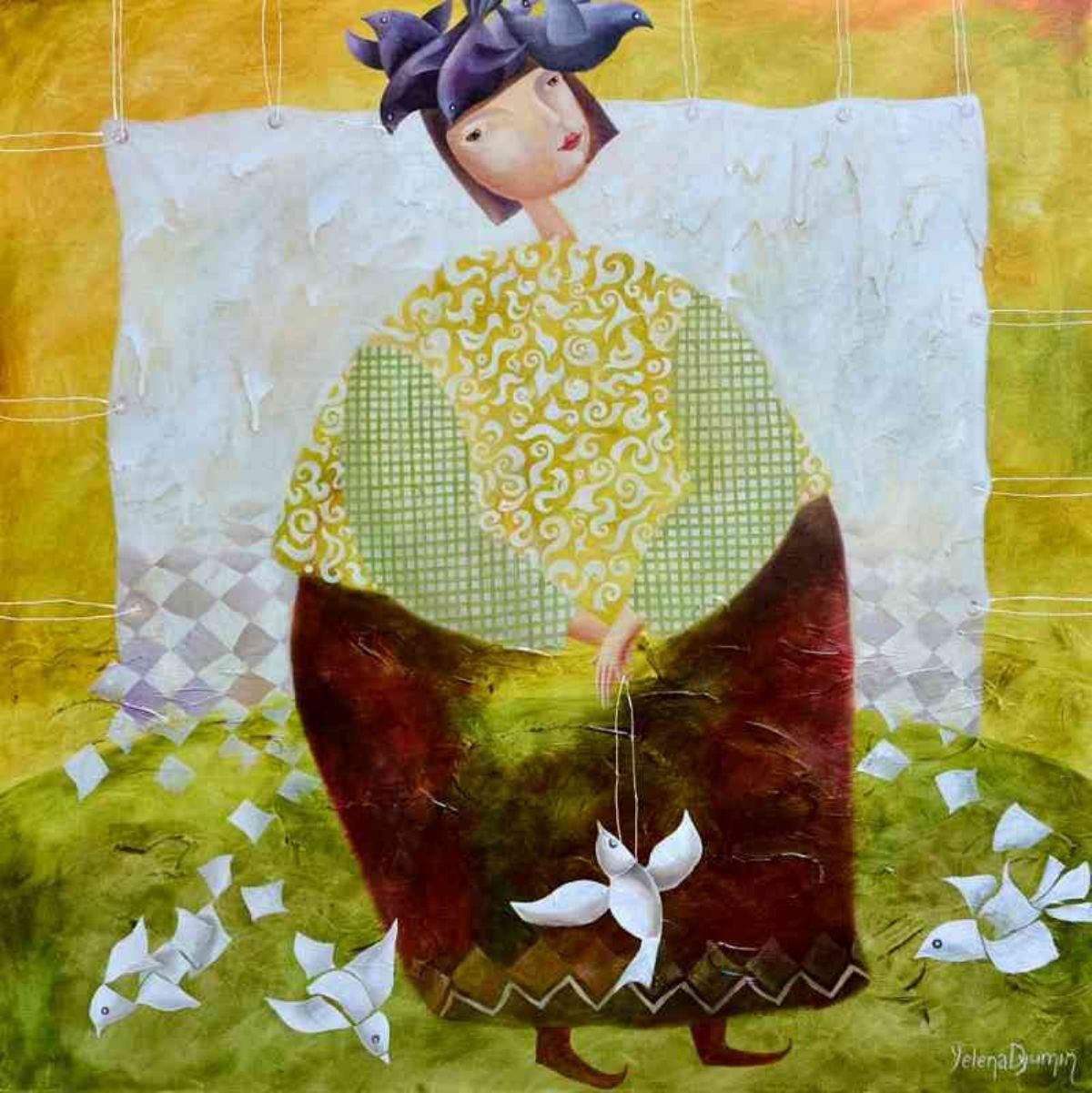Paper pigeons Artwork By Yelena Dyumin - Buy Art on Artplode