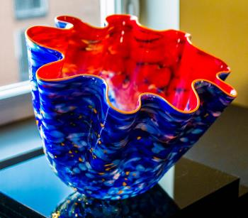 Nordic Blue Macchia Chihuly, art for sale online by Dale Chihuly