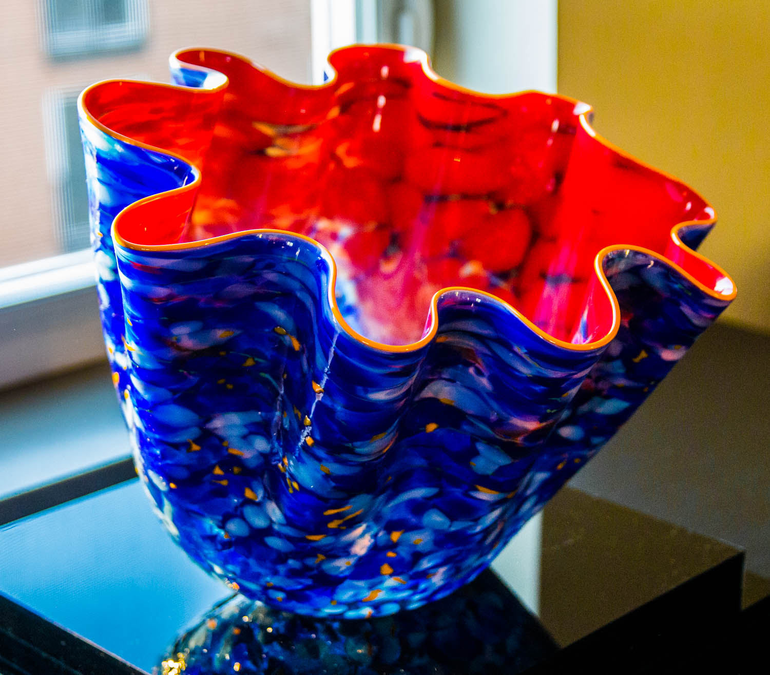 Nordic Blue Macchia Chihuly artwork by Dale Chihuly - art listed for sale on Artplode