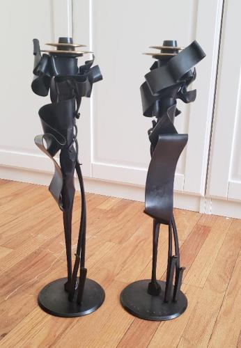 Calyx Candleholders, art for sale online by Albert Paley