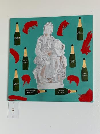 Ode to the Monument Men artwork by Cecilia Anastos - art listed for sale on Artplode