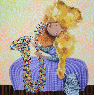 Dreamtime jazz, art for sale online by Yelena Dyumin