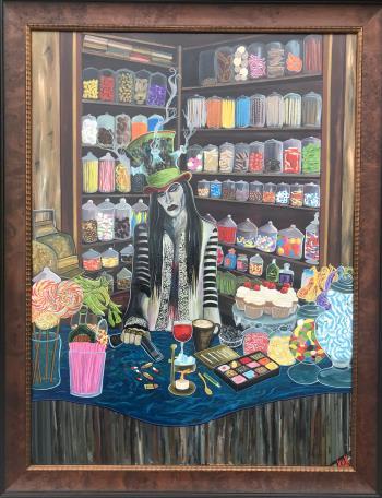 Seduction of Indulgence, art for sale online by Kataraina Koroheke