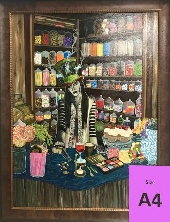 Seduction of Indulgence artwork by Kataraina Koroheke - art listed for sale on Artplode