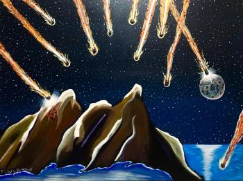 Evening Asteroids, art for sale online by Kataraina Koroheke
