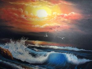 Jasons Sunset, art for sale online by Mik Goben