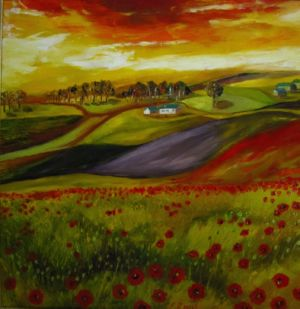 Red Valley, art for sale online by Elena Roush