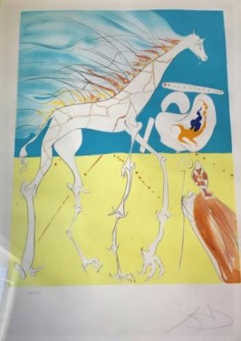 Saturnalian Giraffe, art for sale online by Salvador Dali