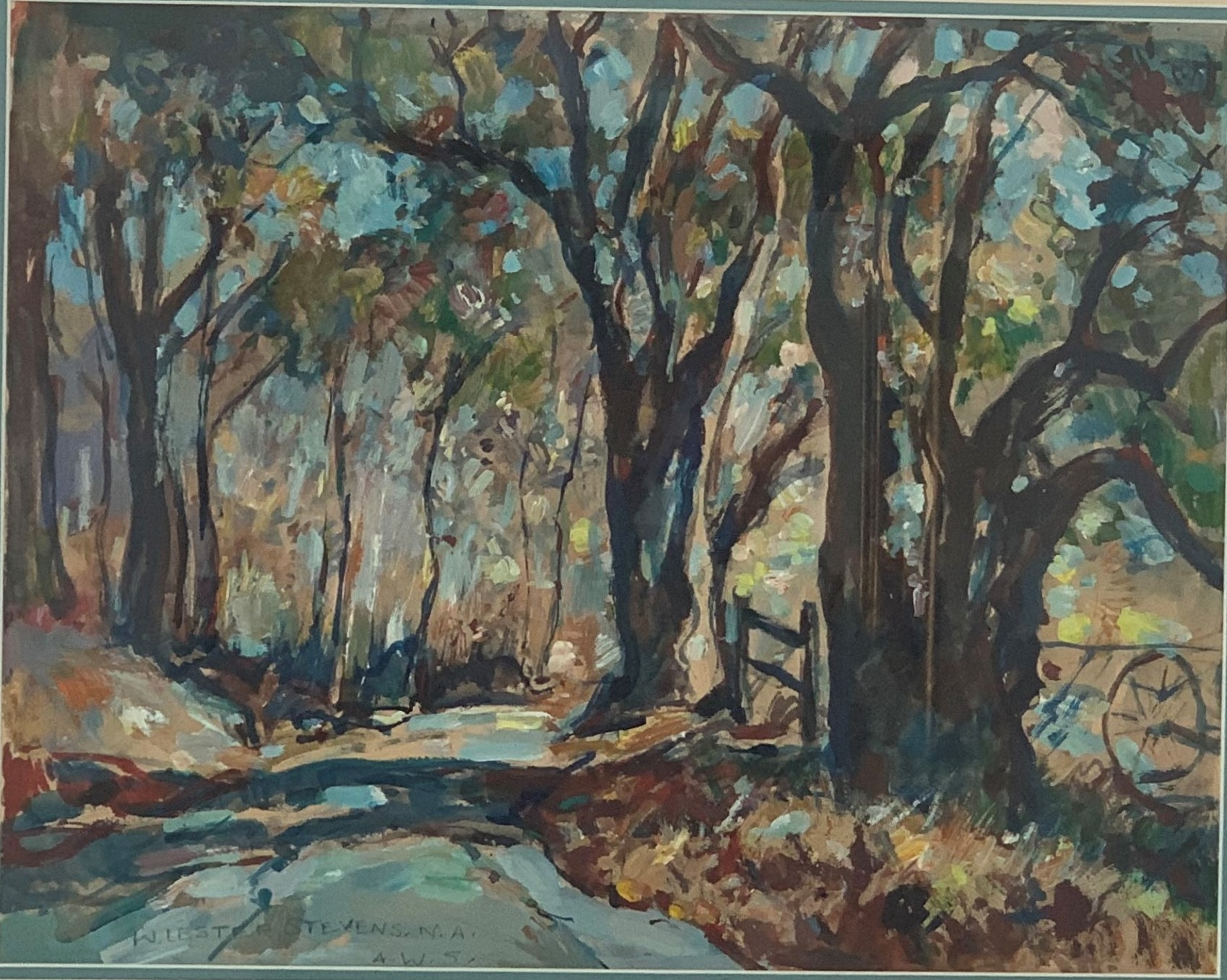 Country Road artwork by William Lester Stevens - art listed for sale on Artplode