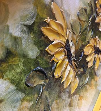 Yellow Flowers  artwork by MARGIE ANN SAMUEL HARRINGTON