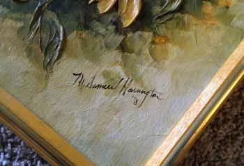 Yellow Flowers  artwork by MARGIE ANN SAMUEL HARRINGTON - art listed for sale on Artplode