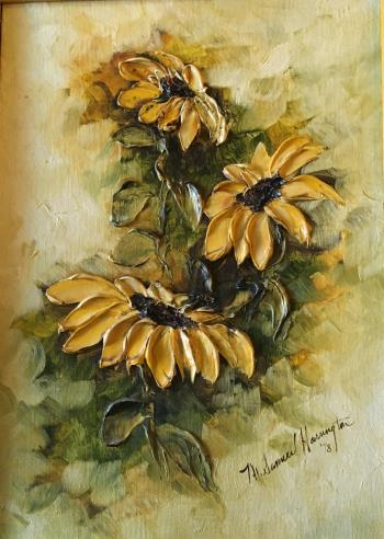 Yellow Flowers , art for sale online by MARGIE ANN SAMUEL HARRINGTON