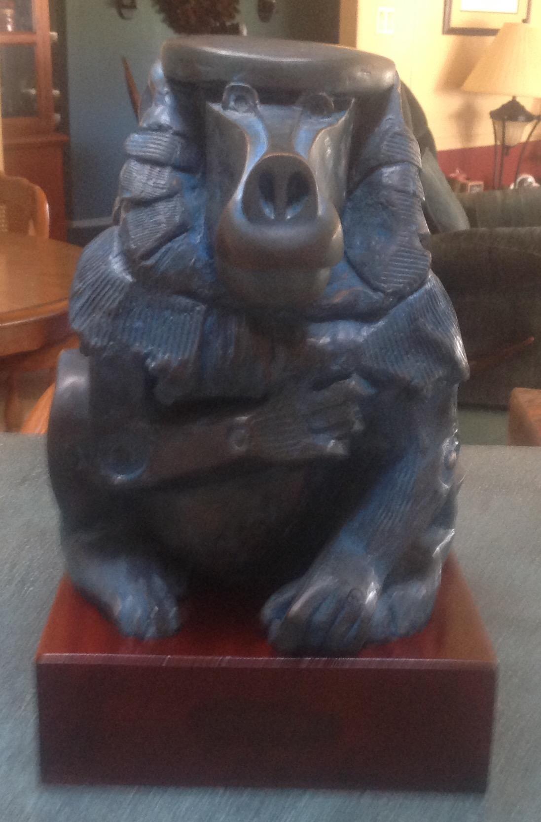 Bronze Baboon artwork by Eliezer Weishoff - art listed for sale on Artplode
