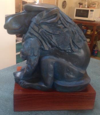 Bronze Baboon artwork by Eliezer Weishoff