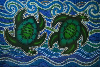 Turtle Reef, art for sale online by Susan Leigh Betts